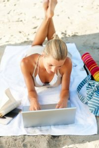 Women at Beach Working
